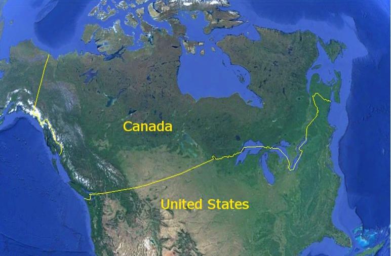 """Резултат с изображение за """"границата между Аляска и Канада."""""""