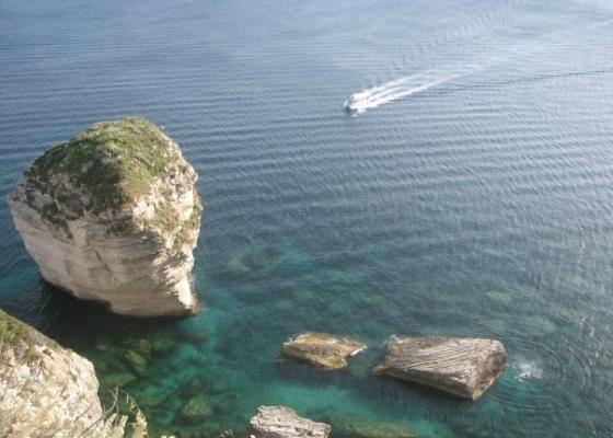 Корскиканският бряг при Бонифачо